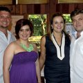 Hank (from left) and Ashley Menard, event chairwoman, visit with Maria and Dr. Jason Hurt at the Red...