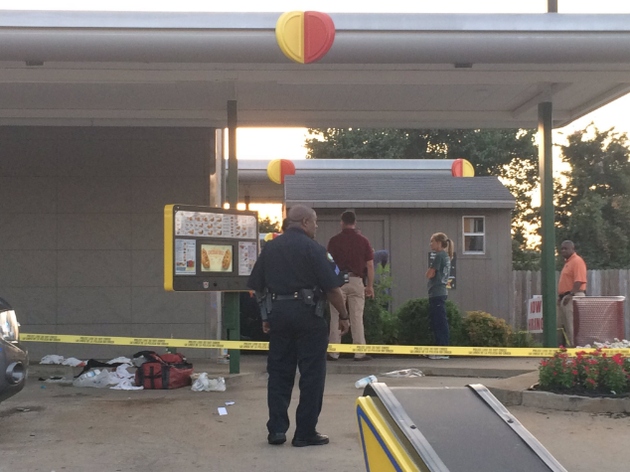 police-investigate-a-shooting-at-a-little-rock-sonic-drive-in-on-in-this-july-13-2016-photo
