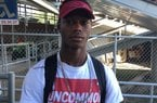 Ashdown safety Montaric Brown poses for a photo at the All Arkansas Camp at War Memorial Stadium on June 5.