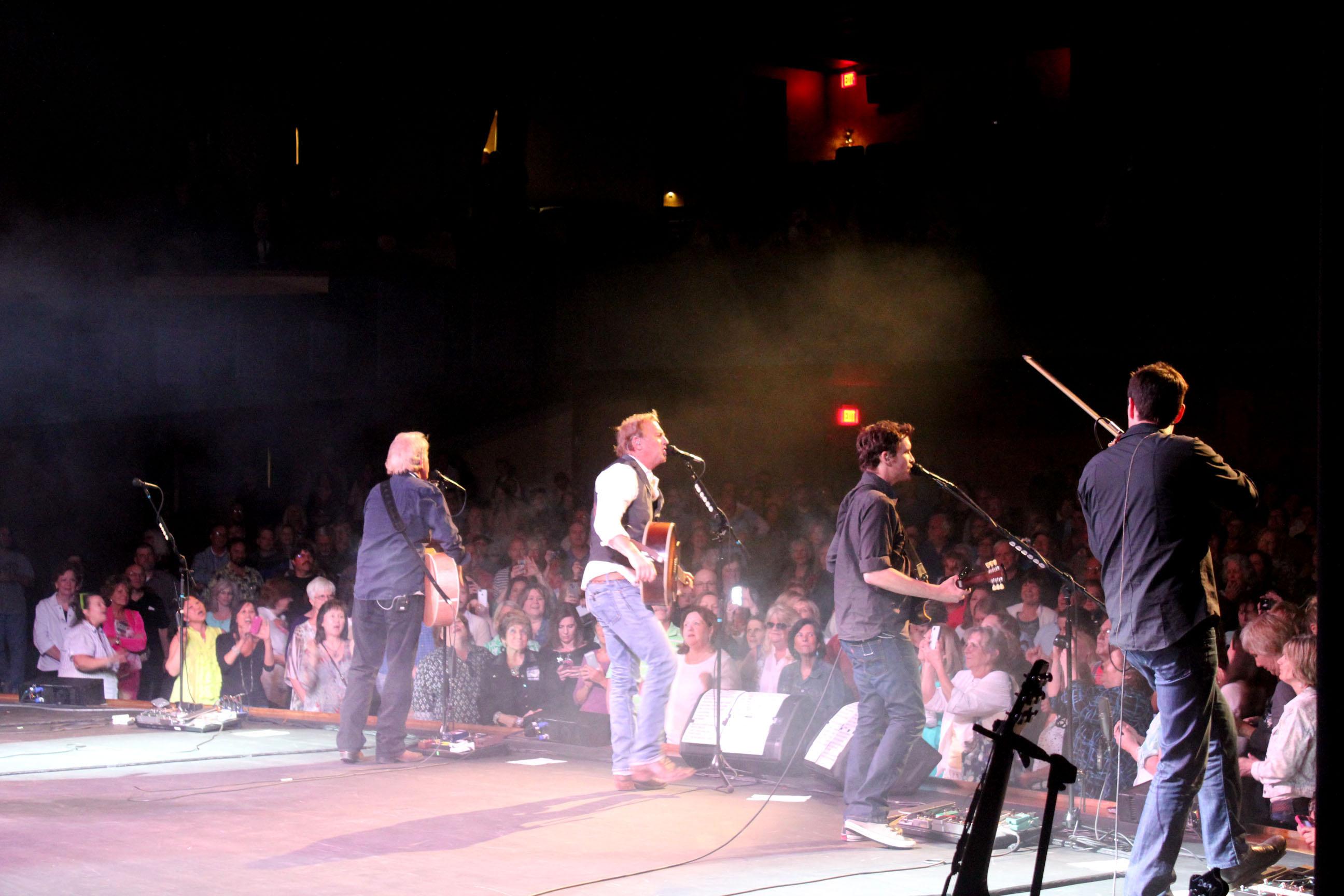 Kevin Costner & Modern West perform Friday in El Dorado.