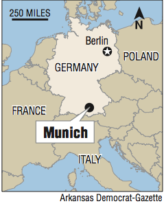 Map Of Germany Showing Munich.In Germany Lone Attacker Guns Down 9