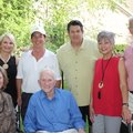 Gen and Frank Broyles (seated), Mary Bassett and Hank Broyles (standing, from left), Tom Pagnozzi an...