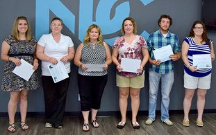 Submitted photo FIRST CLASS: National Park College recognized its first 19 graduates of the Pharmacy Technician Program July 12. Graduates, from left, included Jayme Vaughn, Briana Sport, Jane Kowalkowski, Jennifer Diaz, Kevin Bunch and Lauren Black.