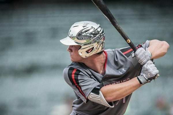 best sneakers bf46f c5b4e Cole Turney bats during the 2016 Under Armour All-American Game on  Saturday, July