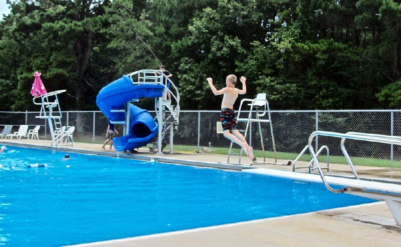 cool off with dip in petit jean state park pool