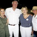 Rosemary Conrad (from left), Sid and Kay Davis and Laura Odom visit at the annual Seafood Jubilee on...