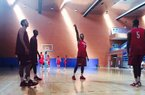 Arkansas' basketball team practiced Monday in Madrid Spain
