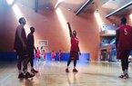 Arkansas' basketball team practiced Monday in Madrid Spain