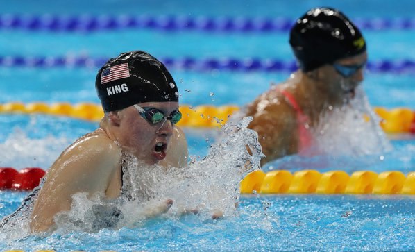 Hoosier Lilly King wins gold medal in 100-meter breaststroke