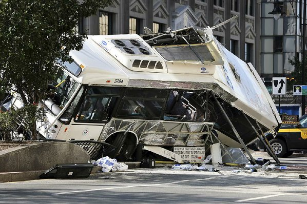 Two NJ Transit buses collide in Newark, officials say