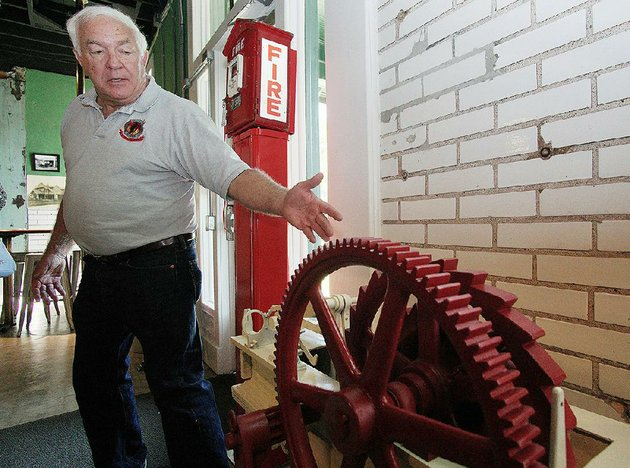 museum-curator-johnny-reep-talks-wednesday-about-some-of-the-equipment-at-the-newly-opened-firehouse-hostel-in-little-rock