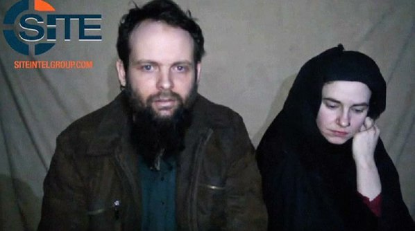 U.S. hostage and her husband appear in new video