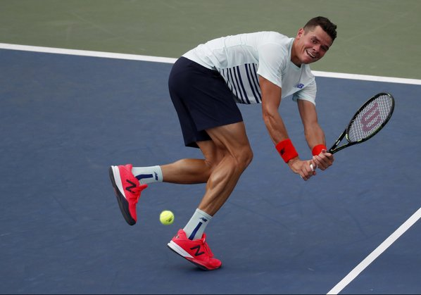 Raonic Says Cramps Spread During Stunning Second-Round Loss To Ryan Harrison