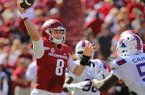 Arkansas quarterback Austin Allen passes the ball during a game against Louisiana Tech on Saturday, Sept. 3, 2016, in Fayetteville.