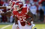 Arkansas running back Rawleigh Williams carries the ball during a game against Louisiana Tech on Saturday, Sept. 3, 2016, at Razorback Stadium in Fayetteville.