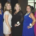 Meredith Wiktorowski (from left), Nevada Efird, Amy Combs, Heather Foitek and Andrea Morris, Fincher...