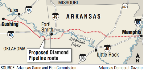 Commission gives OK for oil pipeline across five waterways in Arkansas