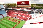 Razorback Athletics- 06/14/2016 - Artist rendering of proposed Razorback Stadium expansion