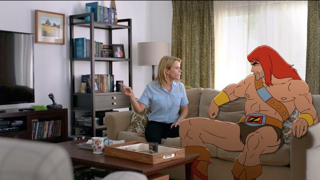 zorn-voiced-by-jason-sudeikis-has-a-chat-with-his-ex-wife-edie-cheryl-hines-in-the-new-liveanimated-comedy-son-of-zorn-catch-the-sneak-peek-at-7-pm-today-on-fox