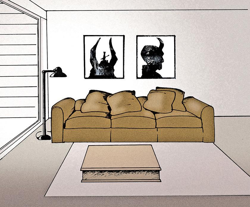 Arkansas Democrat-Gazette Home interior Illustration