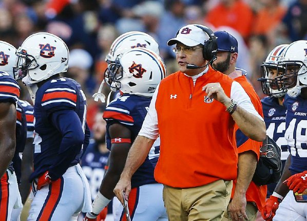 Coach Gus Malzahn talks Auburn's 56-3 blowout over Arkansas Razorbacks