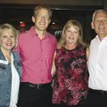 Mary Zettle (from left), Brandon and Kari Nikolish and Mike Turner attend the Swing for the Cure pre...