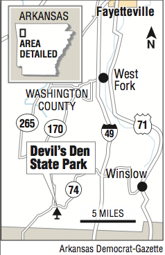 Devils Den Arkansas Map.Where Is It