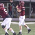 Layne Hutchins of Springdale throws against Rogers Heritage on Sept. 23 at Jarrell Williams Bulldog ...