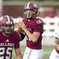 Springdale junior quarterback Layne Hutchins looks pass Aug. 23 during a scrimmage against Shiloh Ch...
