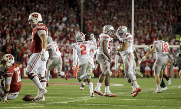 No. 2 Ohio State outlasts No. 8 Wisconsin