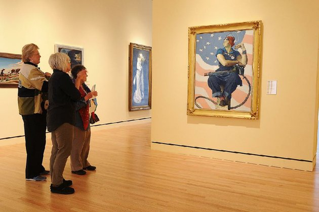 sara-bainbridge-center-a-volunteer-guide-at-crystal-bridges-museum-of-american-art-discusses-norman-rockwells-rosie-the-riveter-with-myrtis-wyly-left-and-phoebe-goodwin-in-january-2013-in-the-five-years-since-its-opening-the-bentonville-museum-has-won-over-skeptics-while-drawing-big-crowds