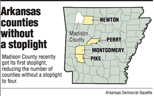 Reviews Mixed After One Arkansas County Gets Its First Stoplight