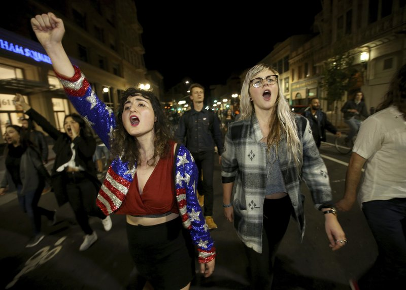 Donald Trump's victory sets off protests on both coasts