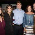 Crystal Vickmark, CASA executive director (from left), Lisa and Bill Mayer and Leslie and Scott Rous...