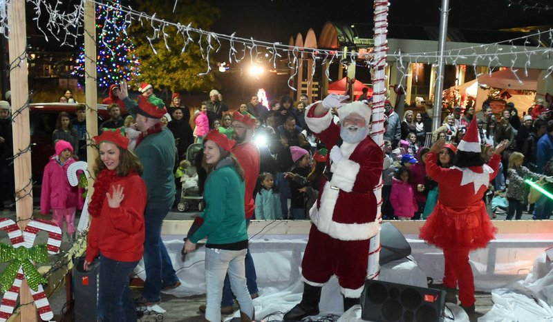The Christmas Parade.Springdale Celebrates Downtown With Christmas Festival