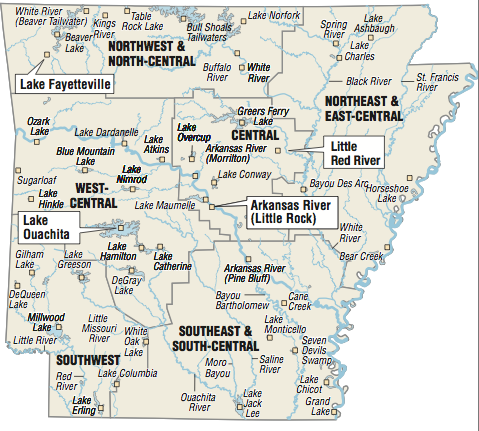 Little Red River Arkansas Map.Fishing This Week