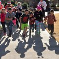 """Kids make their starts in last year's """"Reindeer Fun Run"""" at the Botanical Garden of the Ozarks. This..."""