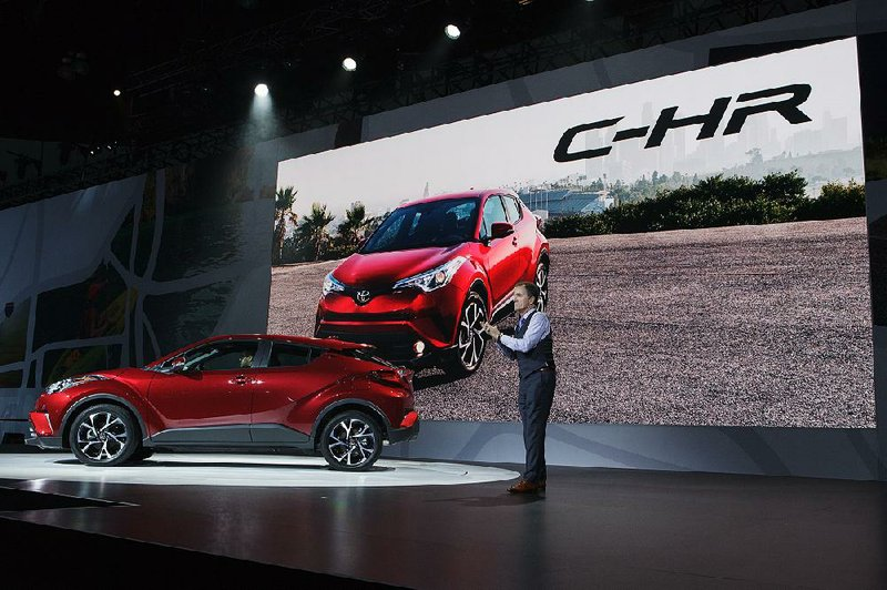 Bill Fay Group Vice President And General Manager At Toyota Motor Corp Speaks During The Unveiling Of C Hr Coupe Los Angeles Auto Show