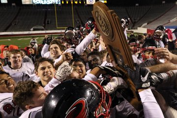 Russellville players celebrate ...