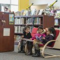 Arianna Rios-Soto (from left) Ingrid Batz Guerra and Fernanda Gonzalez, all first-grade students at ...