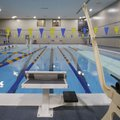 The renovated pool Wednesday following the opening of the Walton Lifetime Health Complex on the camp...