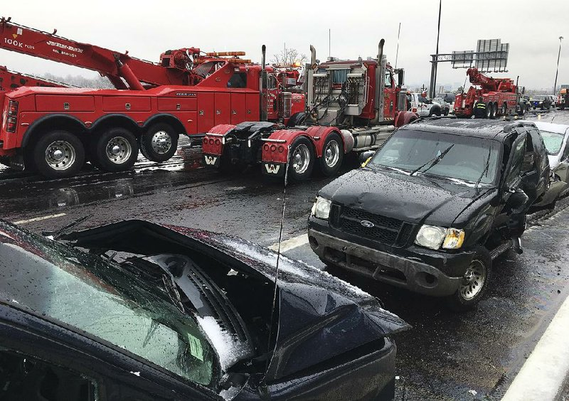 Wrecks Pile Up As Roads Ice Over