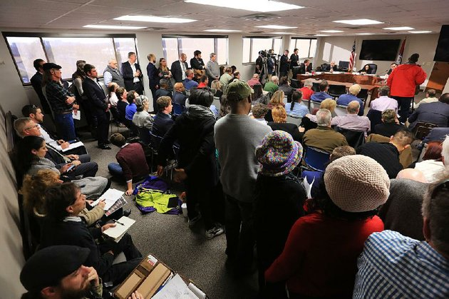 people-pack-the-room-where-the-newly-formed-medical-marijuana-commission-met-tuesday-in-little-rock-the-commission-in-its-second-meeting-decided-how-many-cultivation-centers-to-license-for-growing-marijuana-for-medical-use