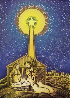 Arkansas Democrat-Gazette nativity illustration.