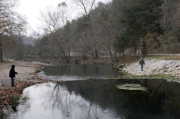 The flip side missouri park tops for winter hiking fishing for Roaring river fishing