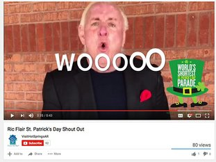 "Submitted photo WOOO: A screen capture of Ric Flair's signature ""Woo"" from a promotional video released by Visit Hot Springs on Thursday."