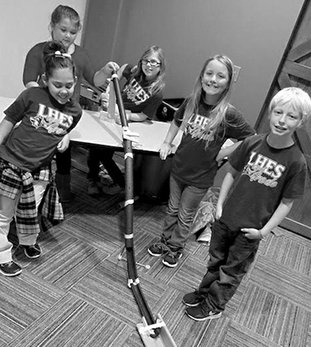 Submitted photo Lake Hamilton Elementary School students in Cambell Wilson's class recently took a field trip to Mid-America Science Museum. Students, from left, Keara Foster, Maddie Sutton, Olivia Driskill, Cassie Hamilton, Brandon King and their classmates received a lesson on engineering and built a roller coaster in groups to learn about force and motion.