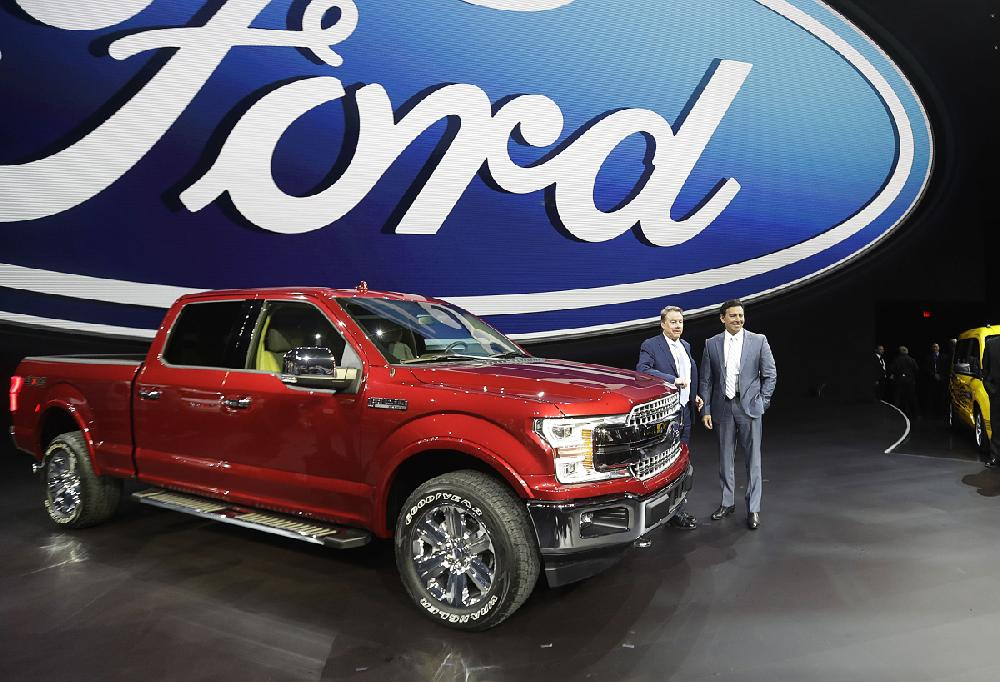 Ford Motor Co Executive Chairman Bill Ford Left And