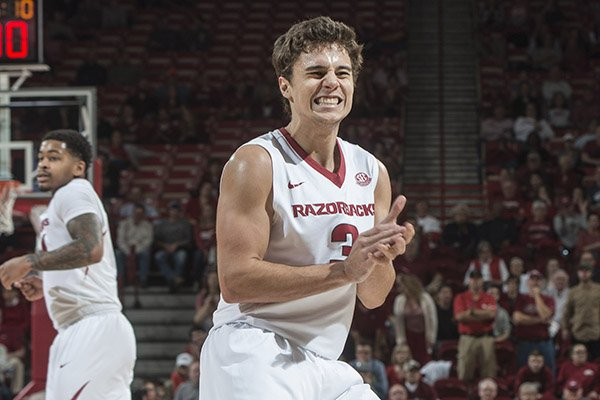 arkansas-guard-dusty-hannahs-reacts-after-missing-a-shot-during-the-final-moments-of-a-game-against-mississippi-state-on-tuesday-jan-10-2017-in-fayetteville