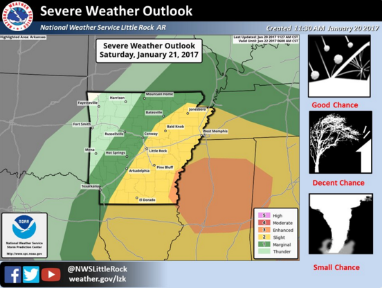 Possible tornadoes large hail in forecast for large part of state